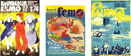 Plakater fra kvindelejren 70erne