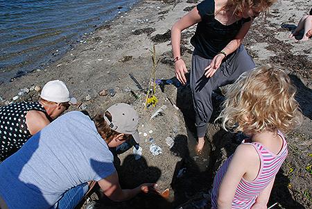 Stranden ved kvindelejren