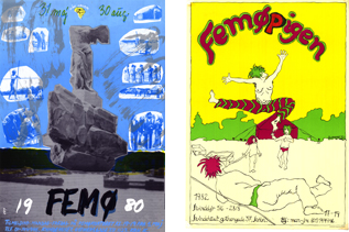 Plakater fra kvindelejren i 80erne